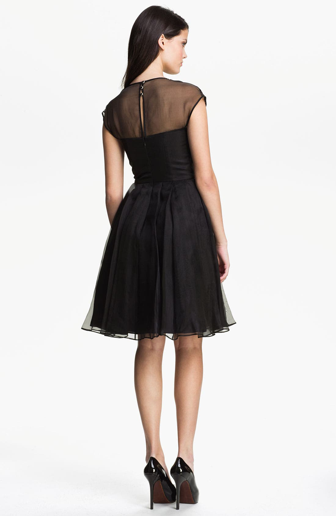 Alternate Image 2  - Ted Baker London Embellished Silk Fit & Flare Dress