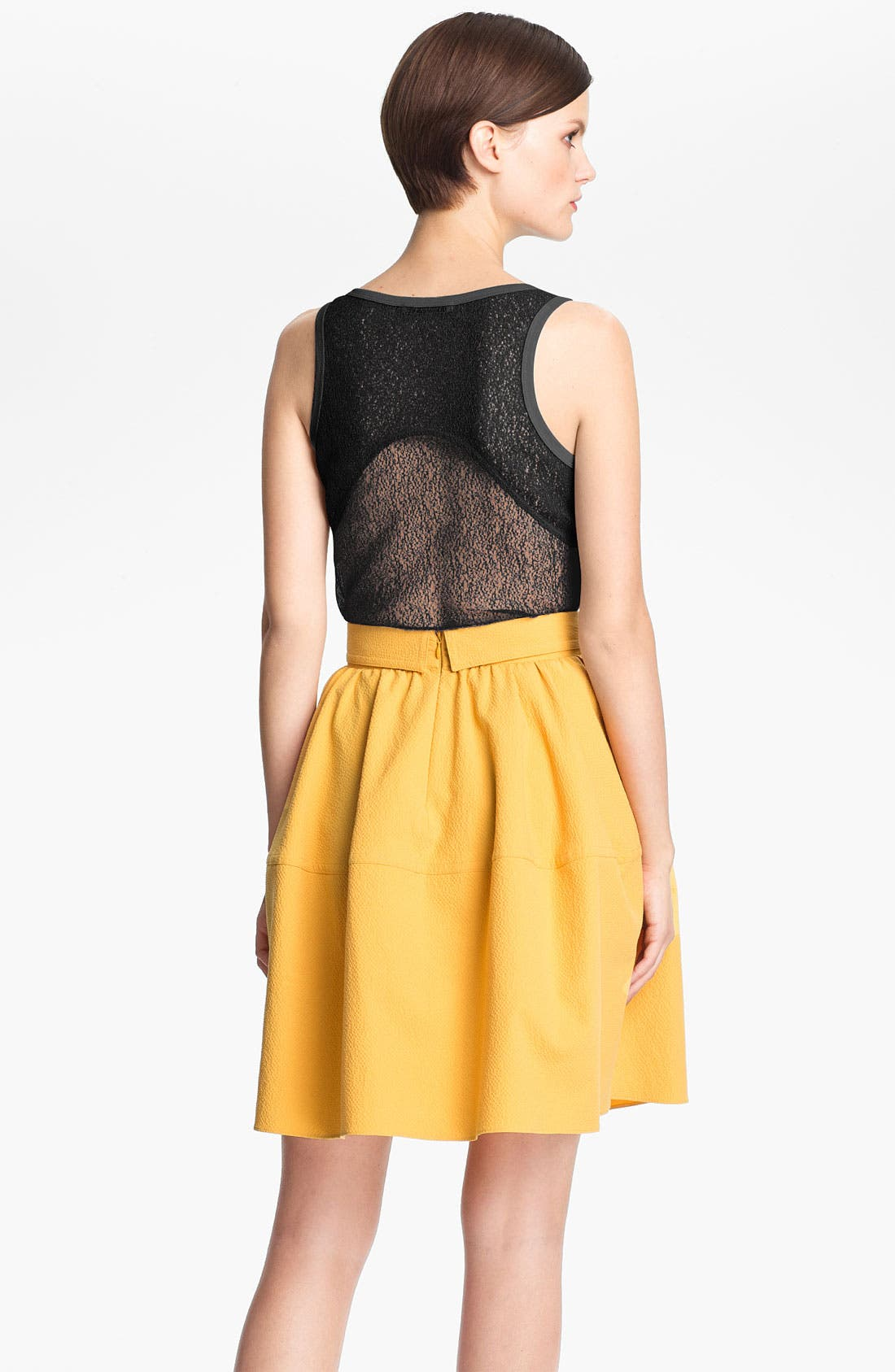Alternate Image 2  - Carven Lace Back Jersey Tank