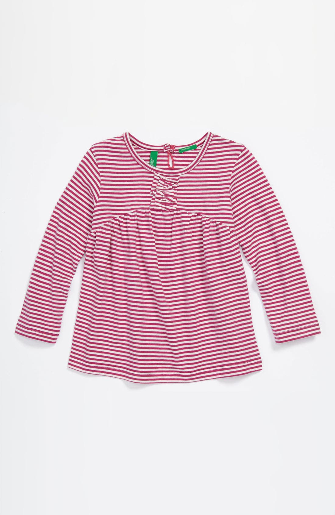 Alternate Image 1 Selected - United Colors of Benetton Kids Stripe Ruffle Tee (Infant)