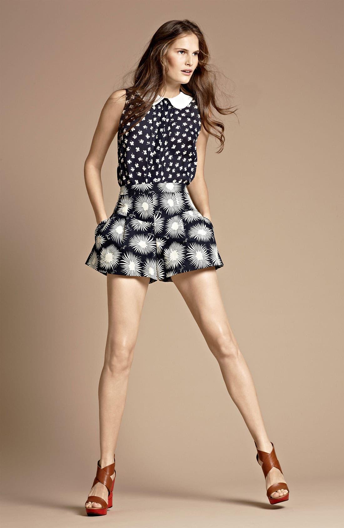 Main Image - Milly Silk Top & Shorts