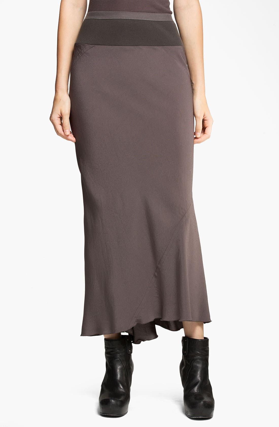 Main Image - Rick Owens Crepe Midi Skirt