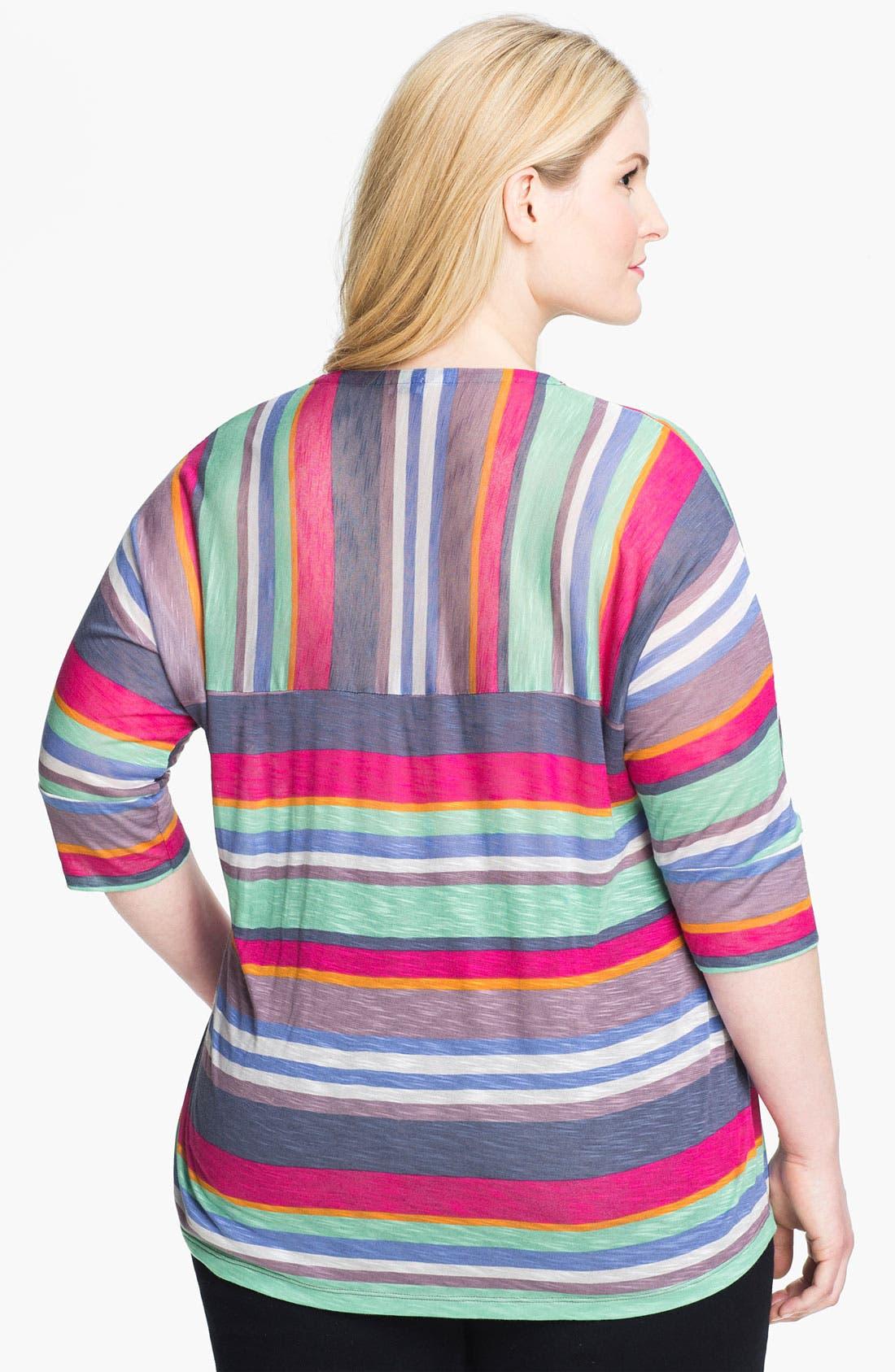 Alternate Image 2  - Splendid 'Pensacola' Stripe Tee (Plus)