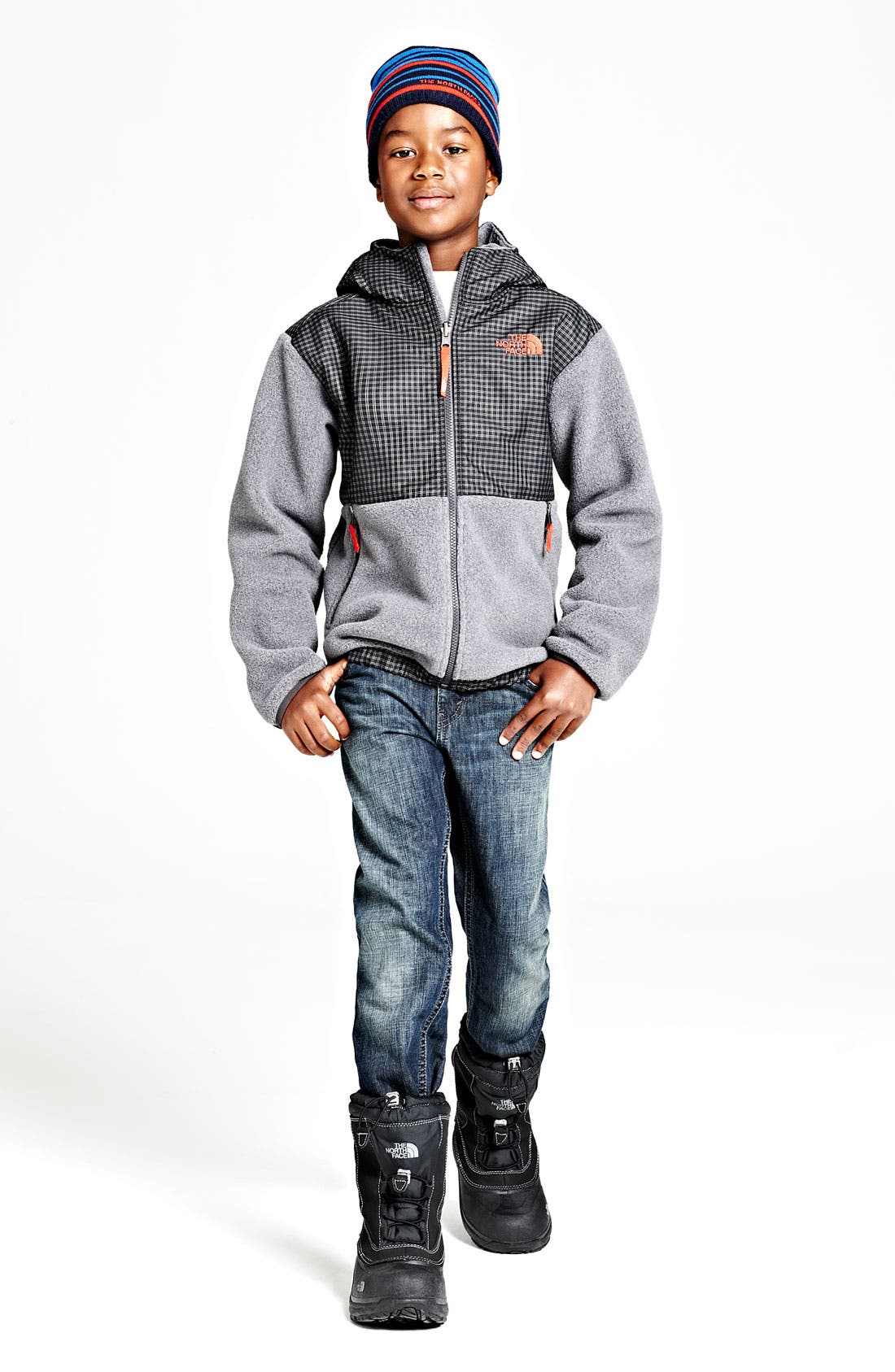 Main Image - The North Face Hoodie & Beanie & Tucker + Tate Shirt (Big Boys)