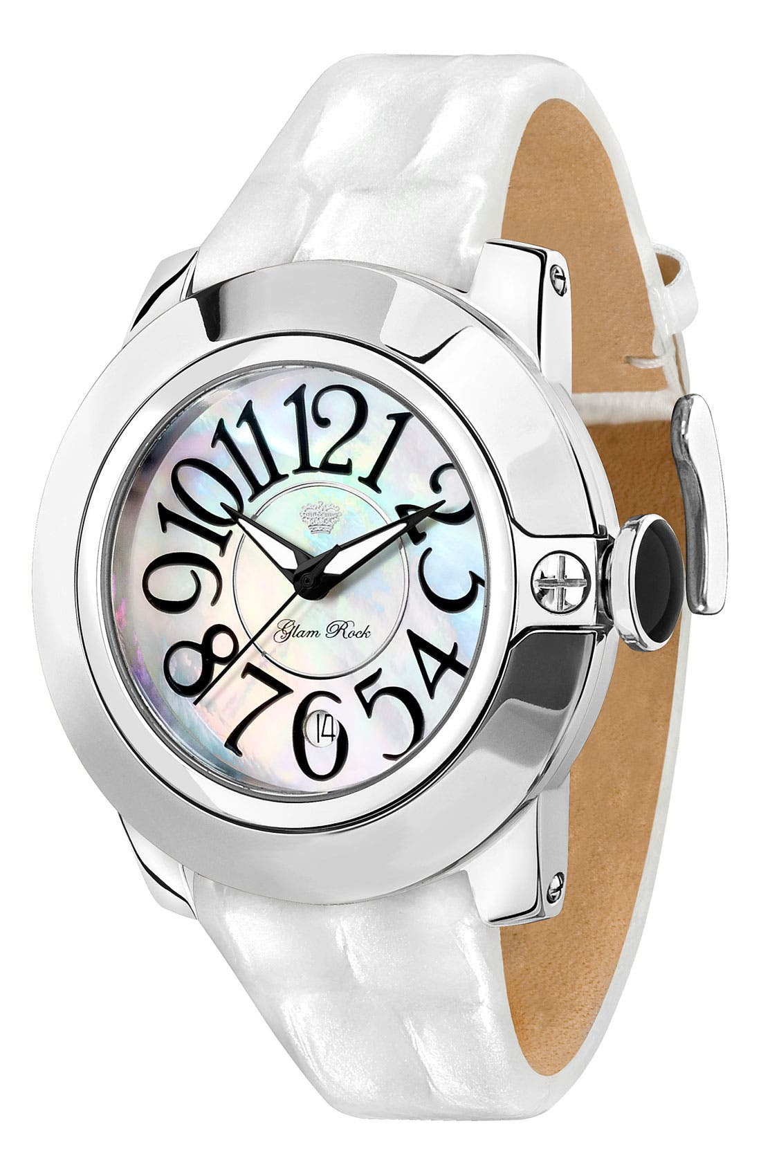 Alternate Image 1 Selected - Glam Rock 'So Be' Leather Strap Watch