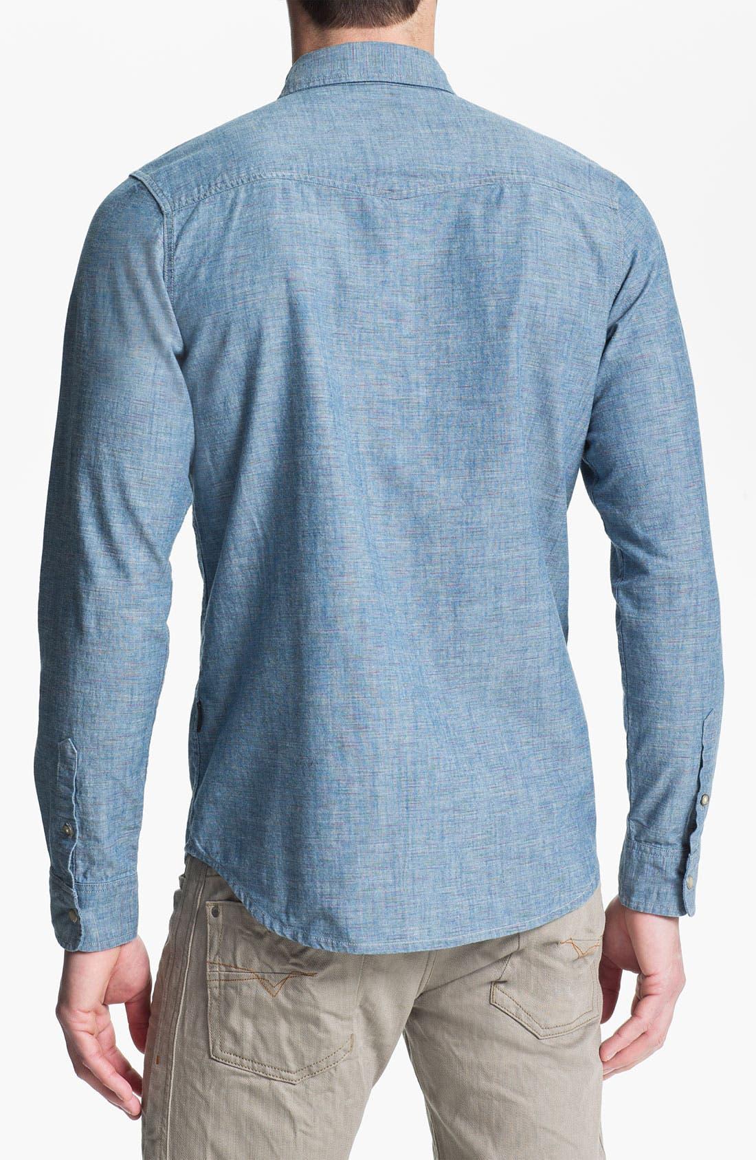Alternate Image 2  - 55DSL 'Saloon' Slub Chambray Western Shirt