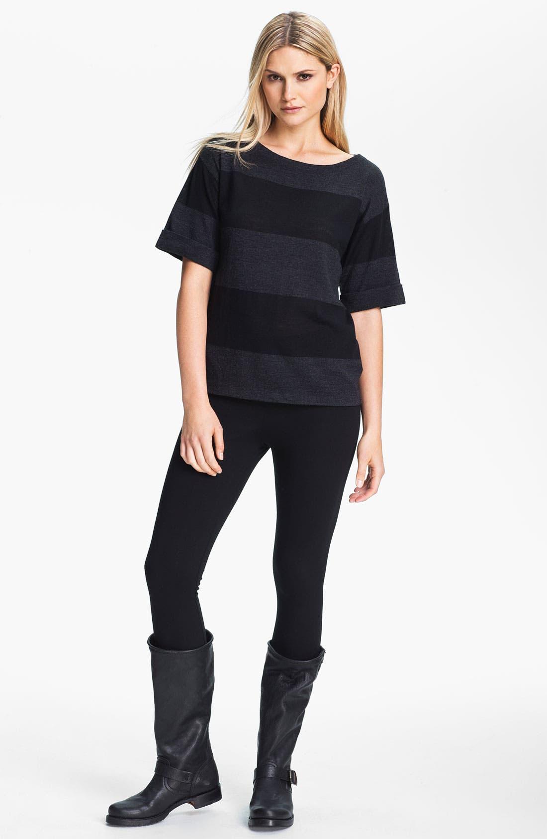 Alternate Image 5  - Eileen Fisher Stripe Fine Merino Top (Petite)