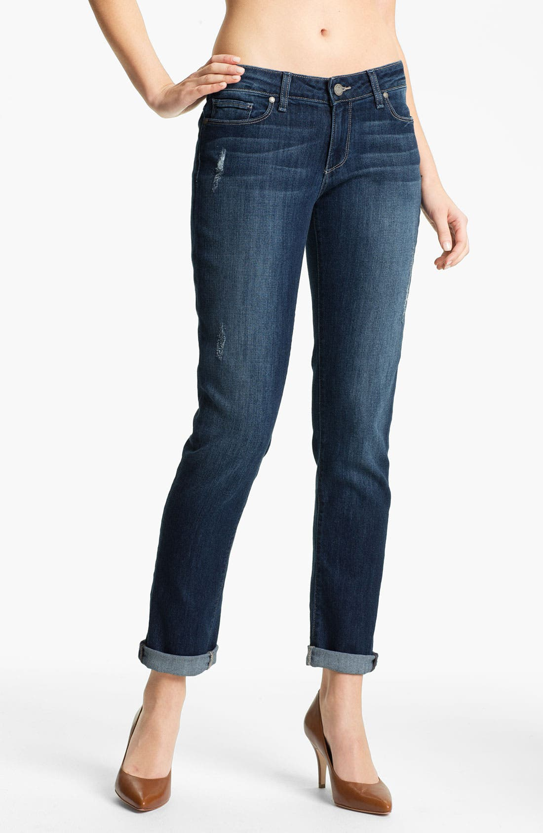 Main Image - Paige Denim 'Jimmy Jimmy' Distressed Skinny Jeans (Mandi Destruction)