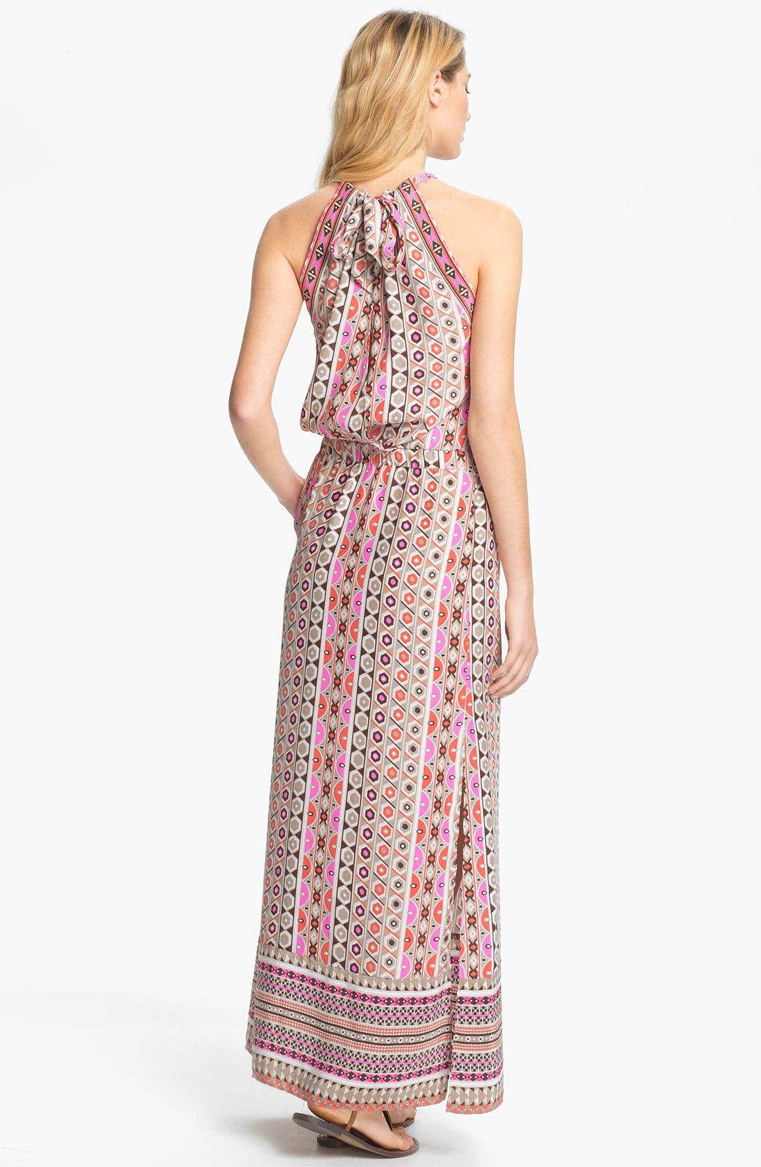 Alternate Image 2  - ALICE & TRIXIE 'Jullian' Print Silk Blouson Maxi Dress
