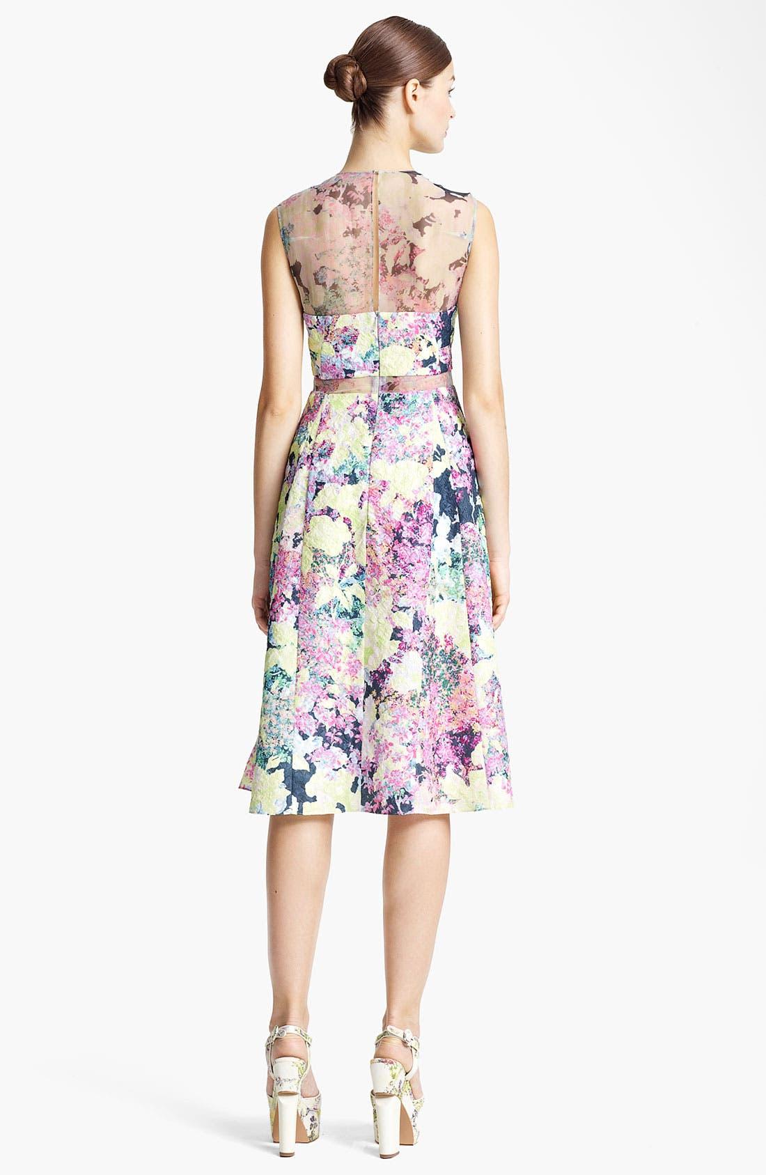 Alternate Image 2  - Erdem 'Imperial Rose' Print Silk Brocade Dress
