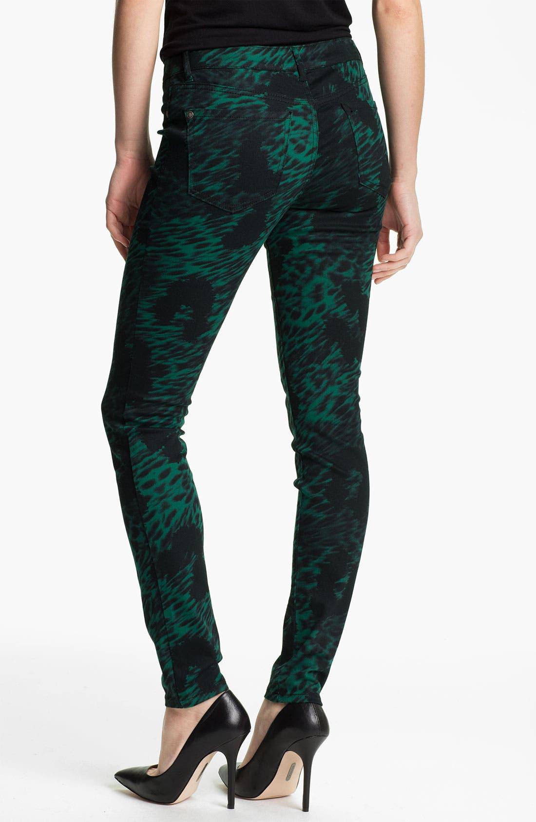 Alternate Image 2  - Jessica Simpson 'Kiss Me' Print Twill Skinny Jeans