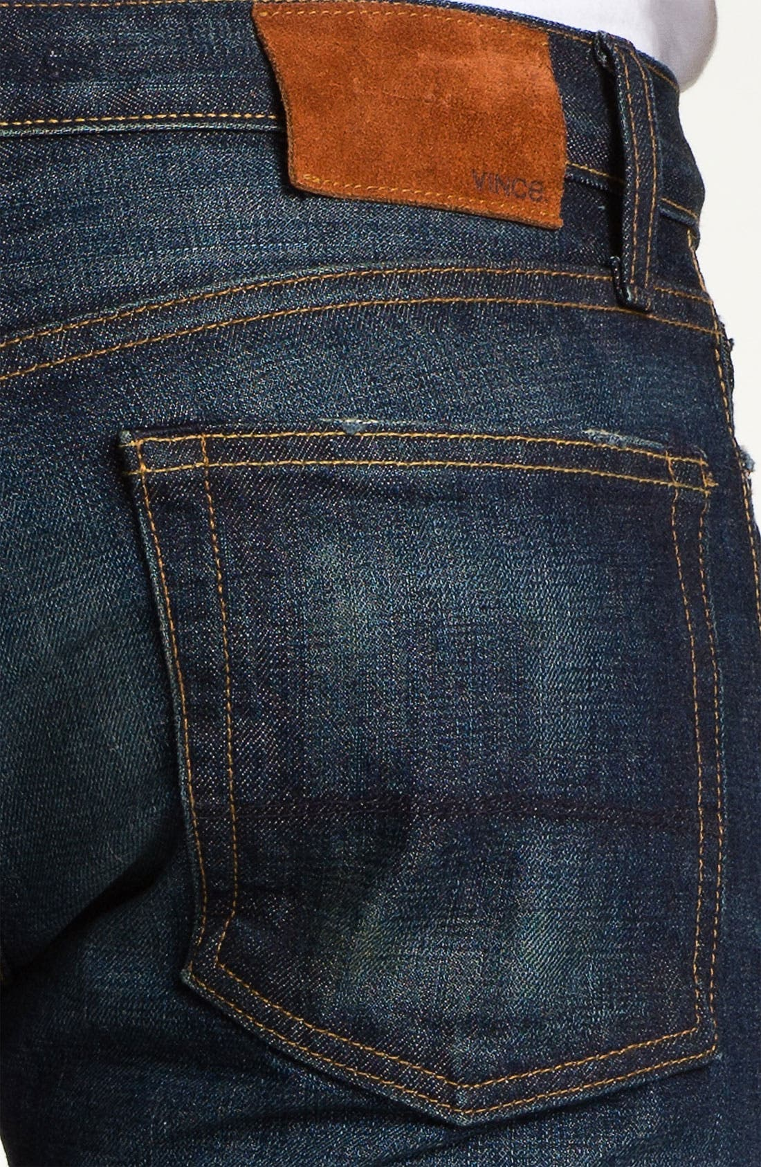 Alternate Image 3  - Vince Selvedge Slim Straight Leg Jeans (One Year)