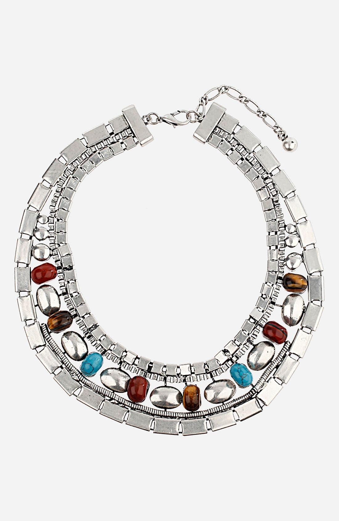 Main Image - Topshop Stones Collar Necklace