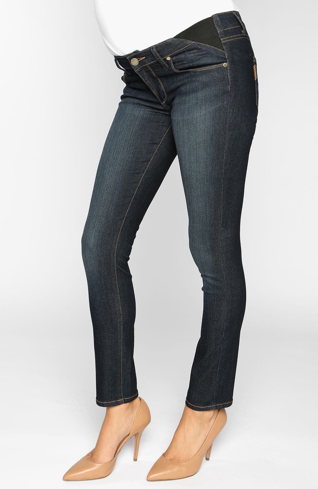 Alternate Image 1 Selected - Paige Maternity 'Union Skyline' Ankle Skinny Jeans (Carson)