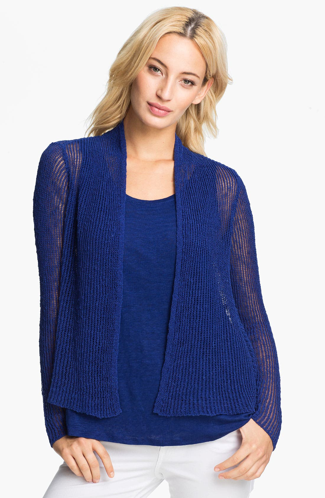Alternate Image 1 Selected - Eileen Fisher Open Front Knit Cardigan