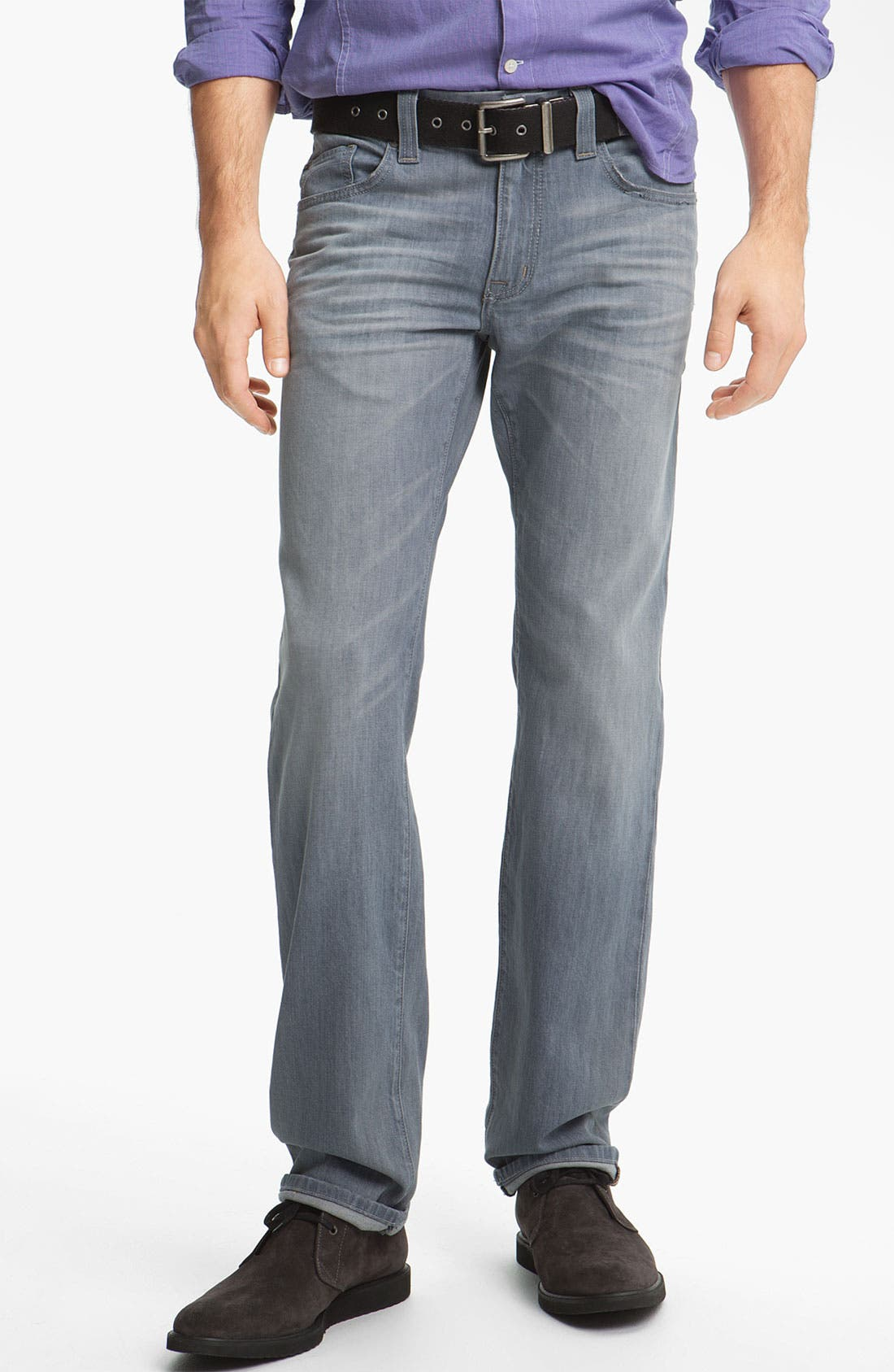 Alternate Image 1 Selected - Fidelity Denim 'Impala' Straight Leg Jeans (Voodoo Ghost)