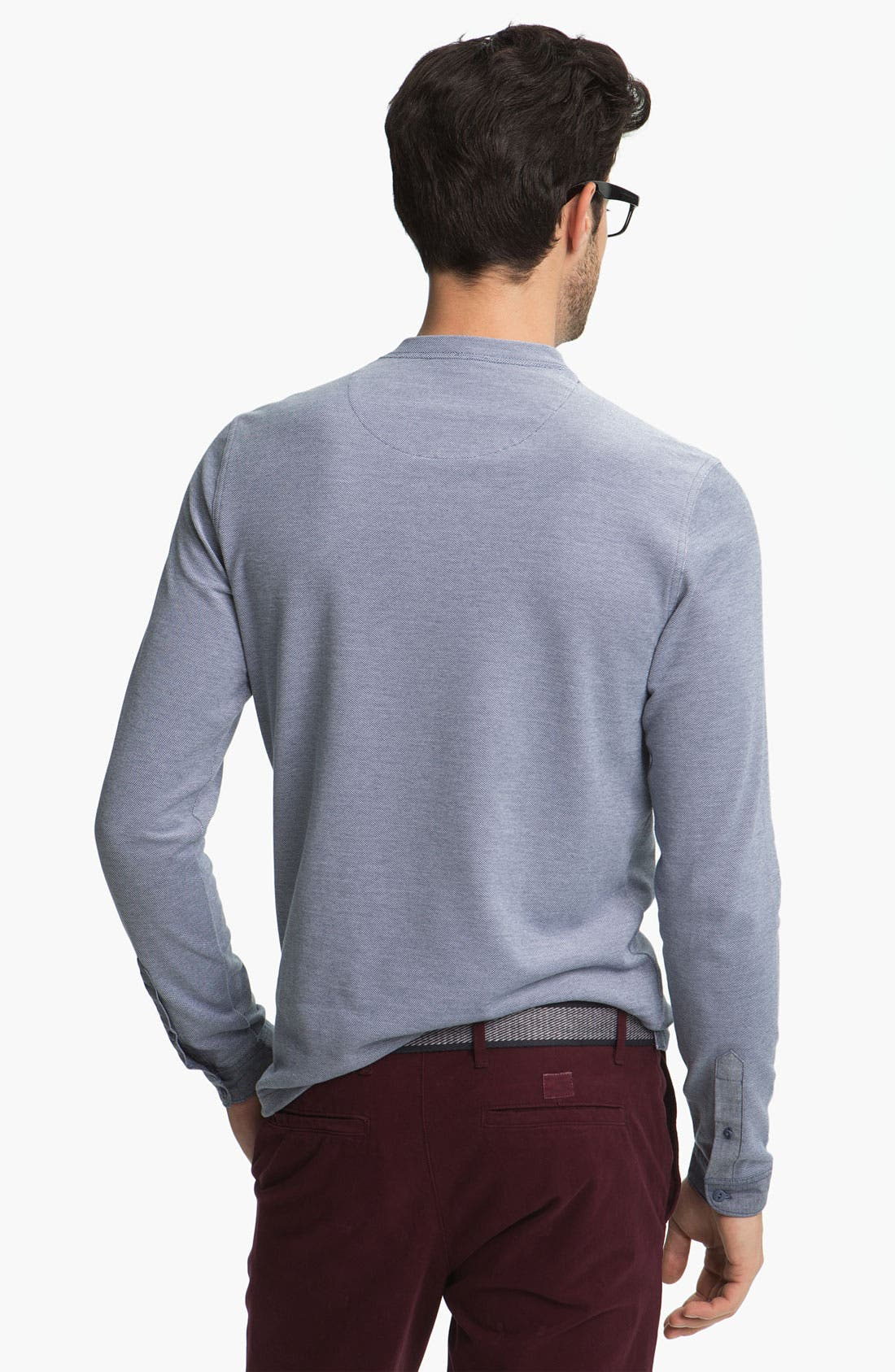 Alternate Image 2  - Fred Perry Long Sleeve Henley T-Shirt