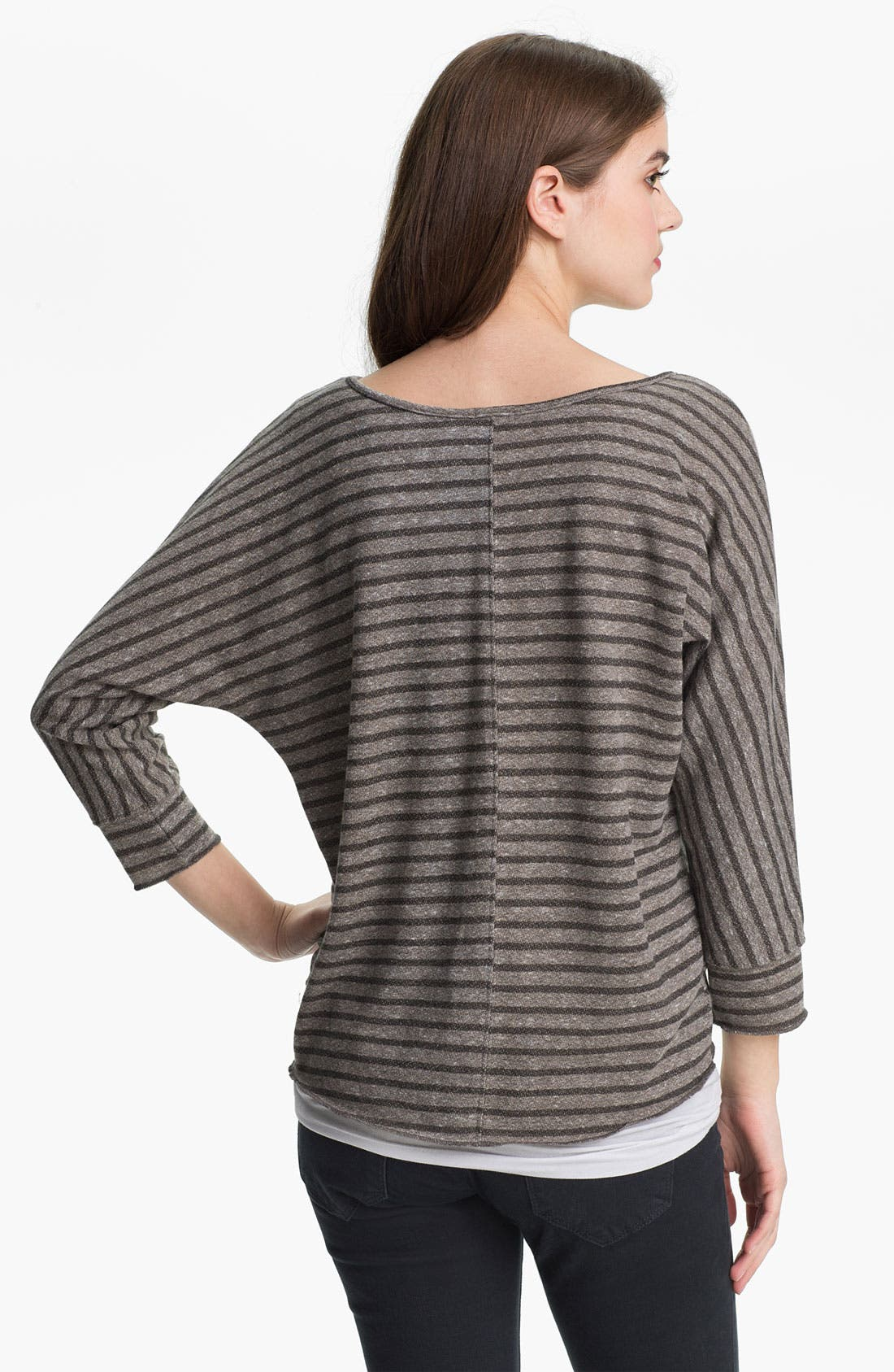 Alternate Image 2  - KUT from the Kloth Scoop Neck Stripe Top