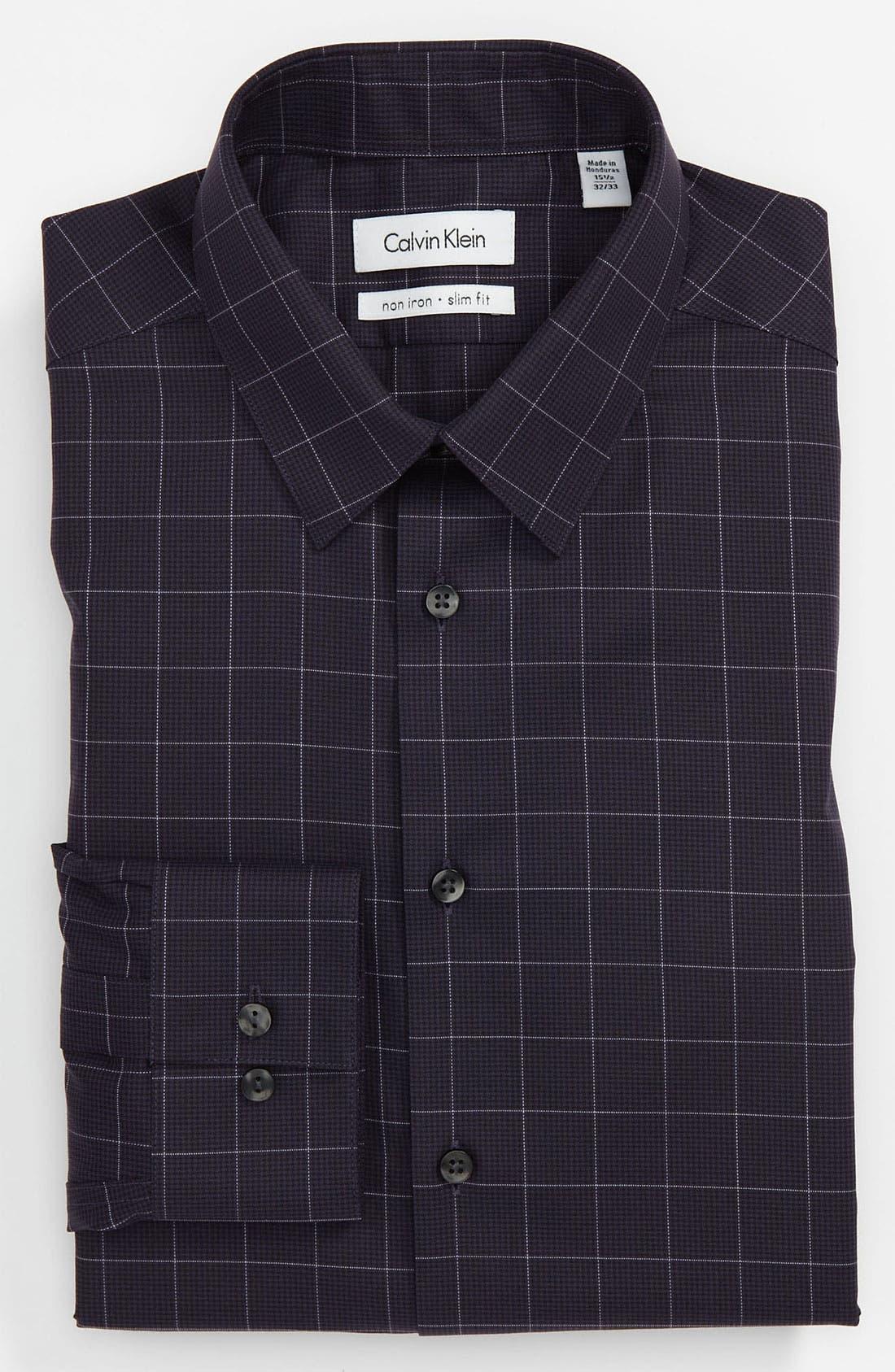 Alternate Image 1 Selected - Calvin Klein Slim Fit Non-Iron Dress Shirt