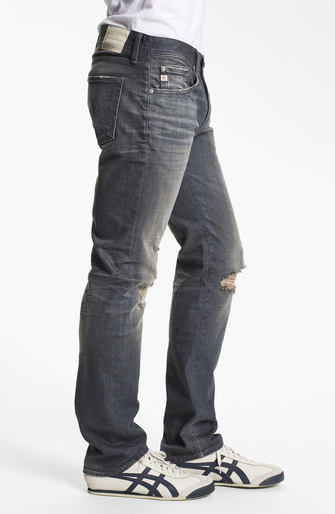 Alternate Image 3  - AG 'Matchbox' Slim Fit Jeans (6 Year Destroyed)
