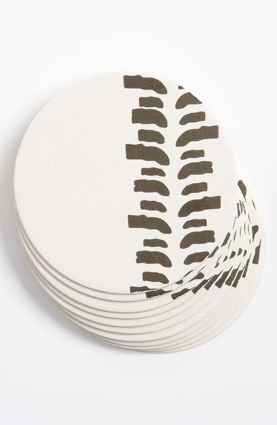 Alternate Image 1 Selected - 'Truck Tires' Letterpress Coasters (Set of 10)