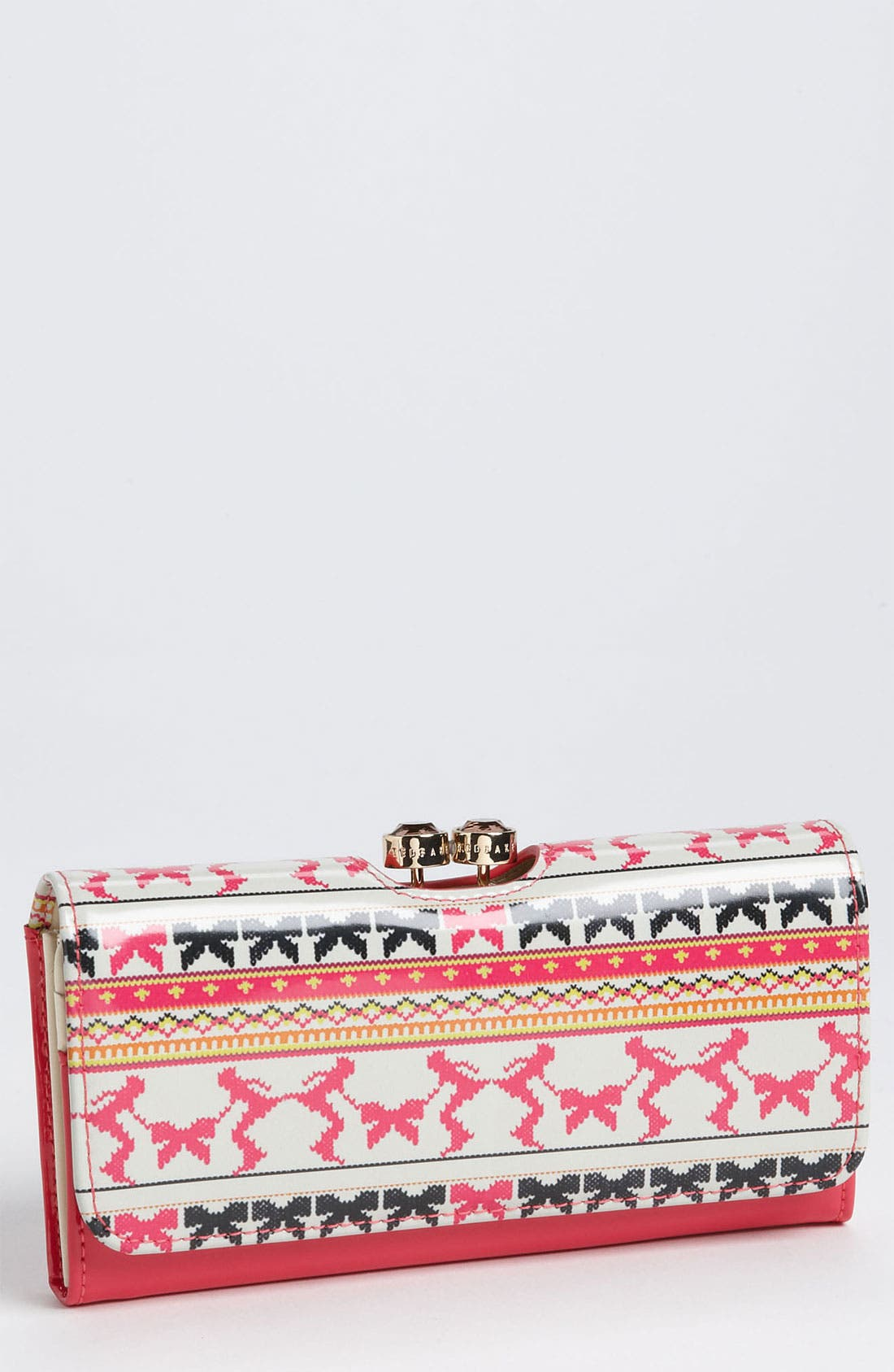 Main Image - Ted Baker London Patent Leather Print Wallet