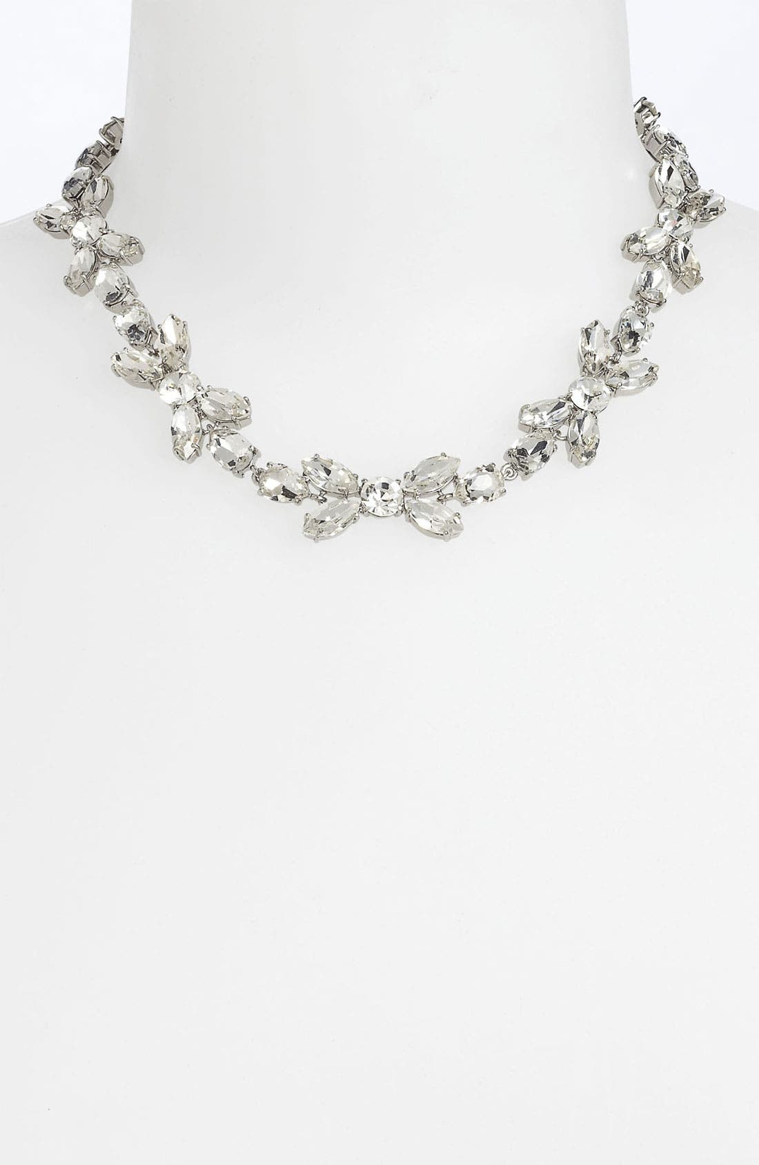 Main Image - kate spade new york 'crystal petals' collar necklace