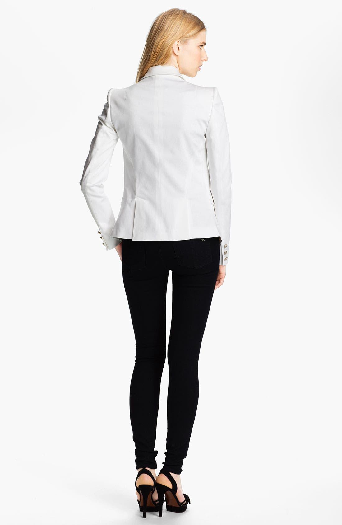 Alternate Image 2  - Just Cavalli Leopard Lined Cotton Blazer