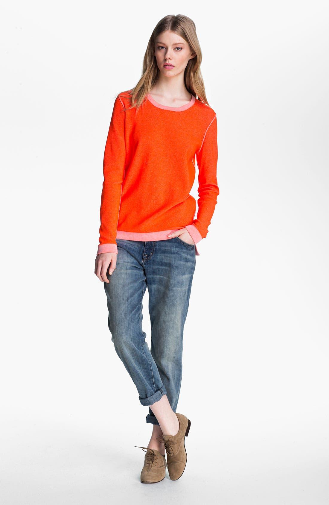Alternate Image 1 Selected - Tibi Reversible Neon Plaited Sweatshirt