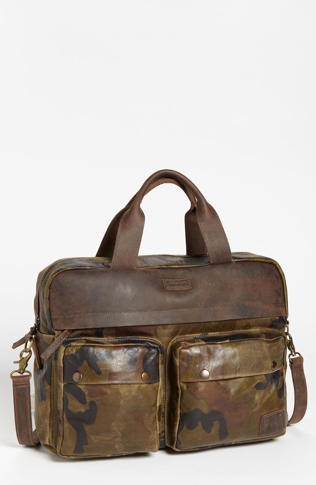 Main Image - Insubordinate Lads 'Spencer' Leather Laptop Briefcase