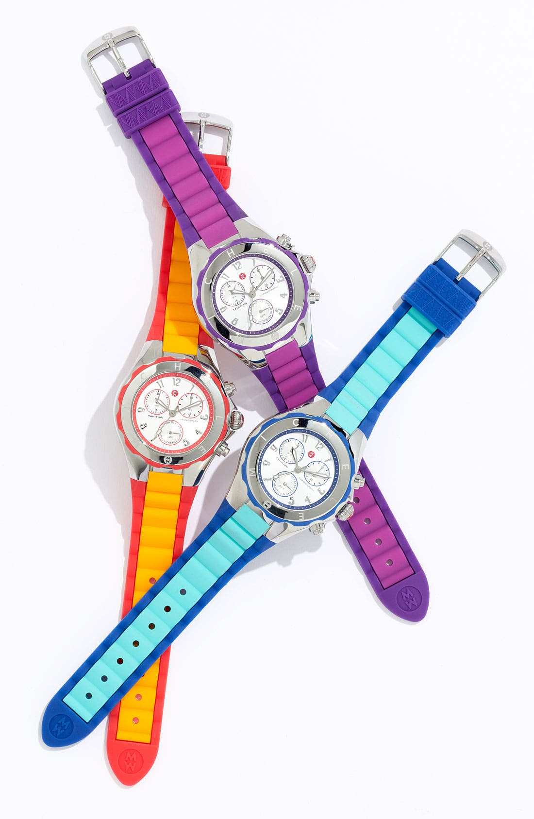 Alternate Image 2  - MICHELE 'Tahitian Jelly Bean' Colorblock Watch, 40mm