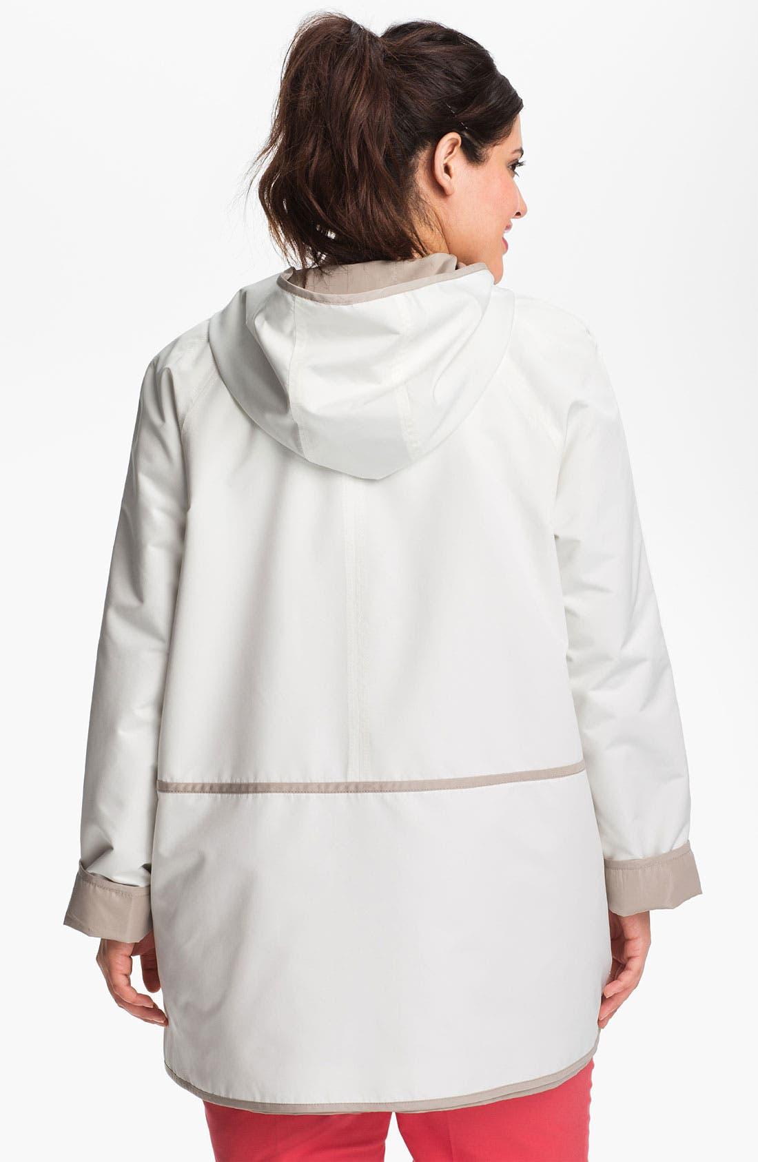 Alternate Image 3  - Gallery Reversible Hooded Jacket (Plus Size)
