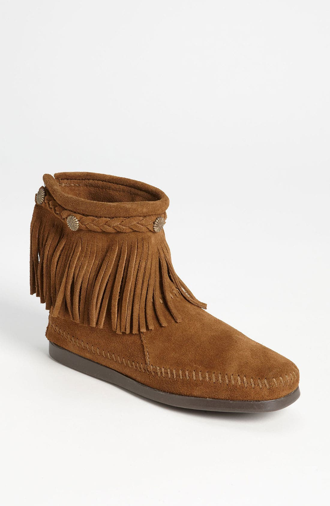 Main Image - Minnetonka Fringed Moccasin Bootie (Women)