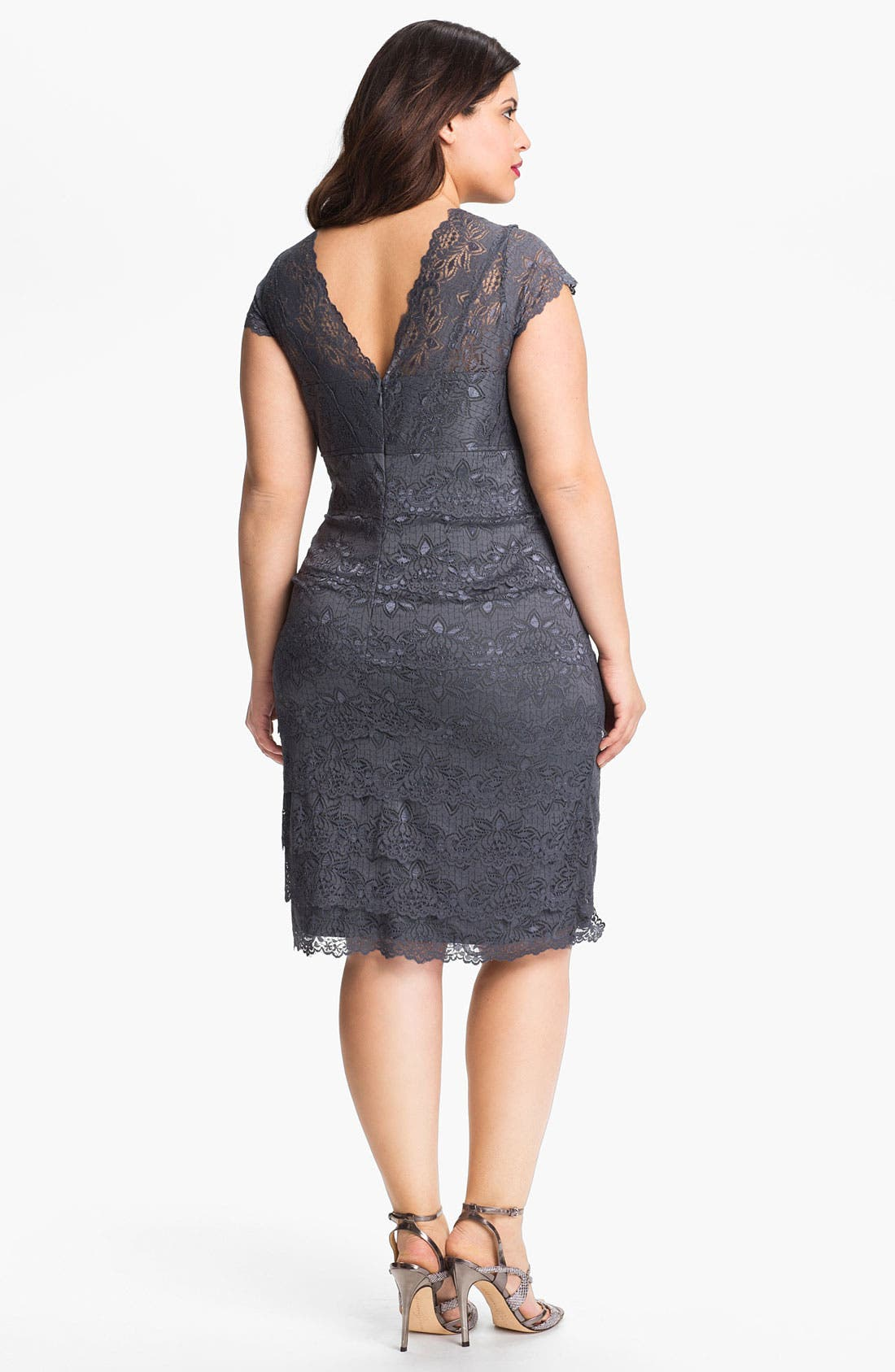 Alternate Image 2  - JS Collections Layered Lace Sheath Dress (Plus)