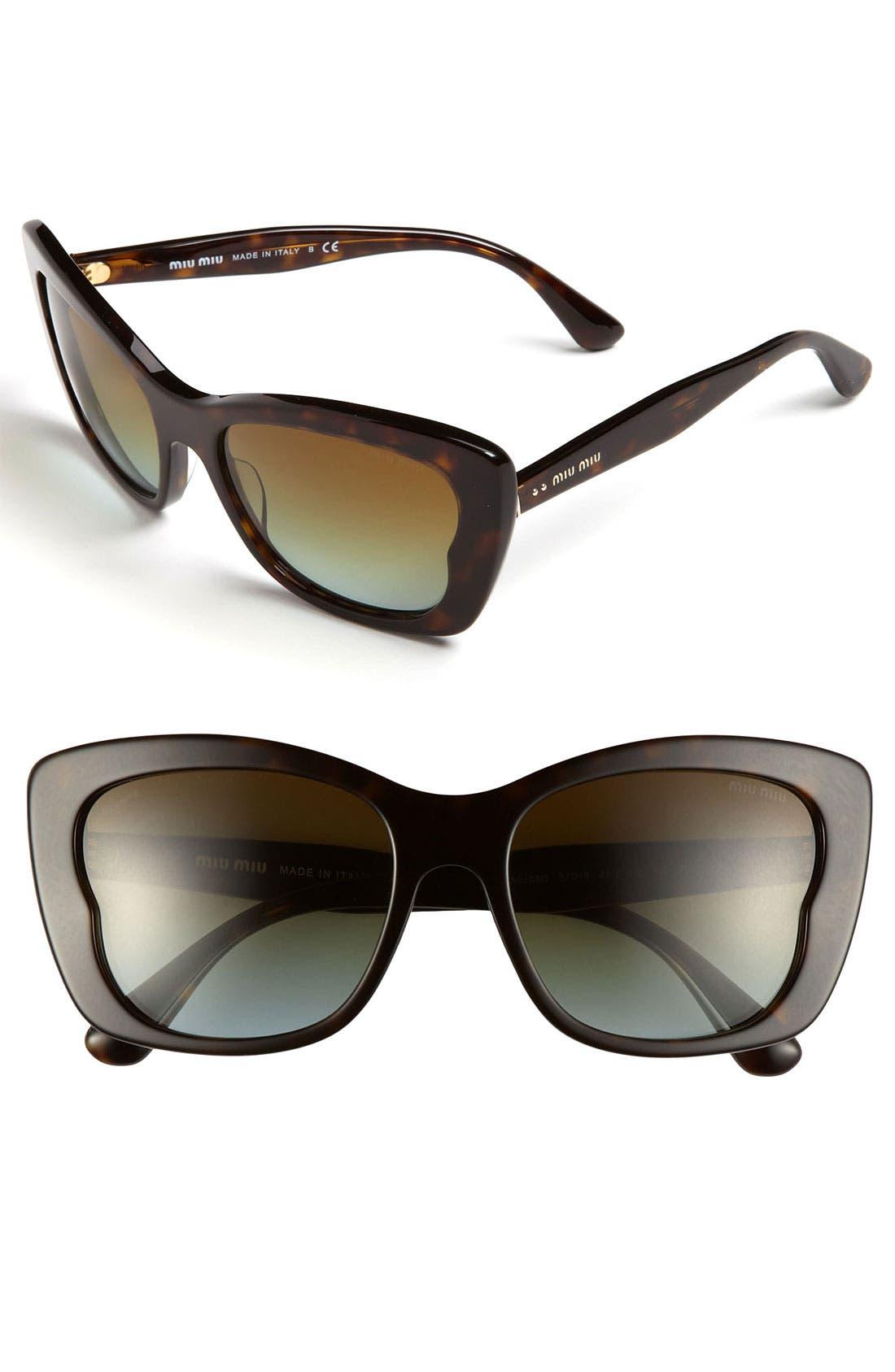 Alternate Image 1 Selected - Miu Miu Butterfly Sunglasses