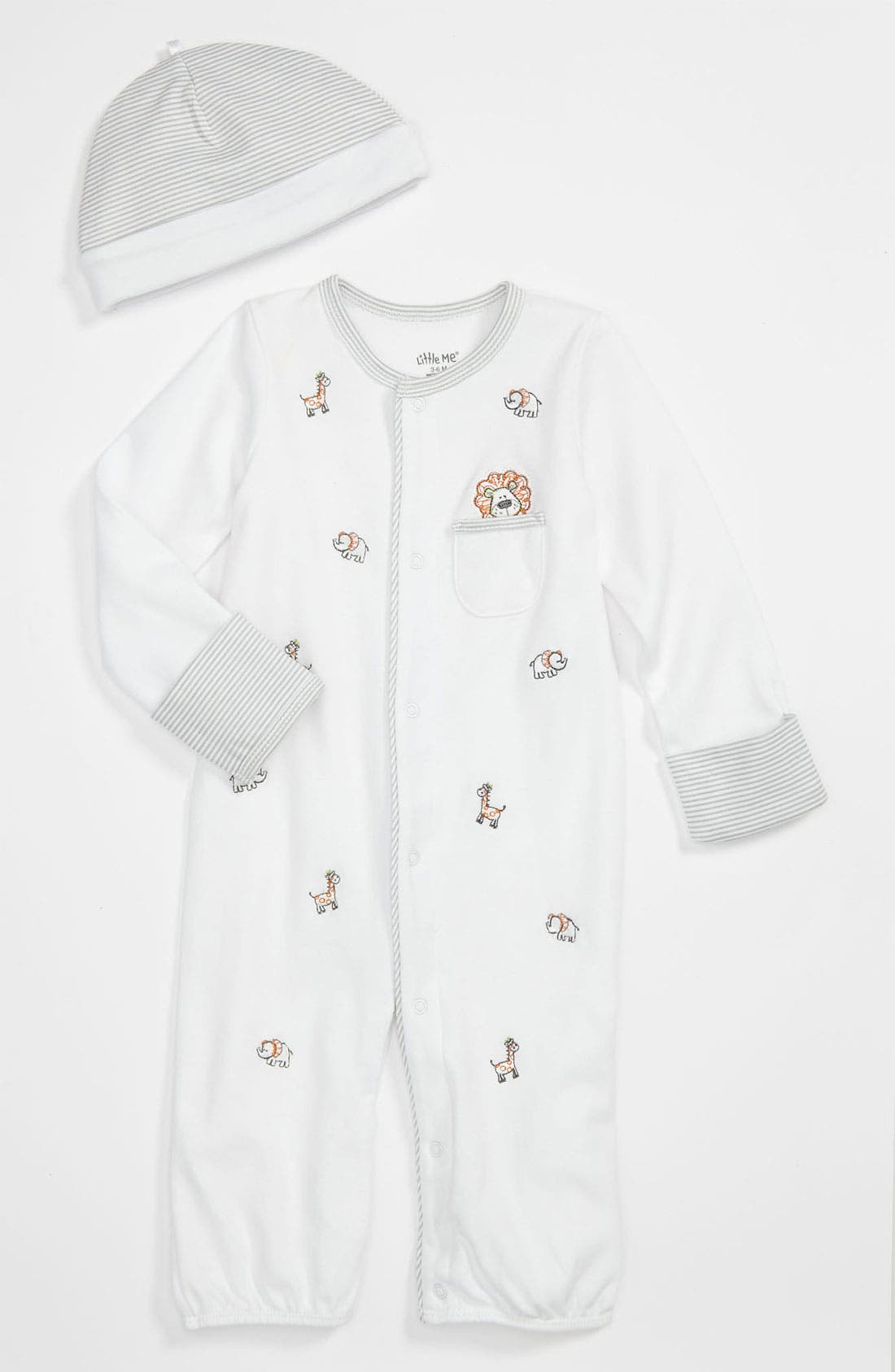Alternate Image 1 Selected - Little Me 'Safari' Convertible Gown (Infant)
