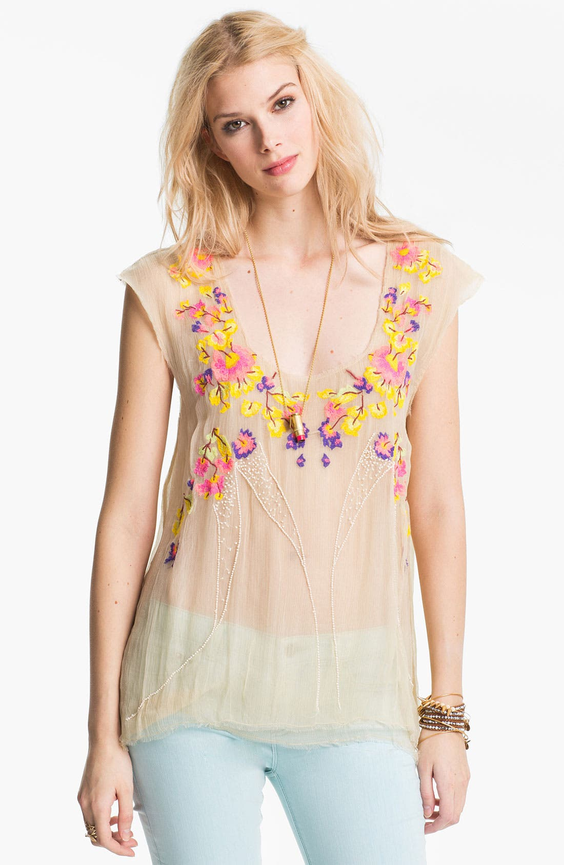 Alternate Image 1 Selected - Free People 'Summer Nights' Embellished Top