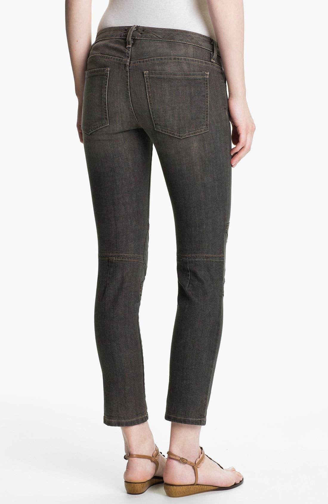 Alternate Image 2  - L'AGENCE Skinny Moto Crop Jeans