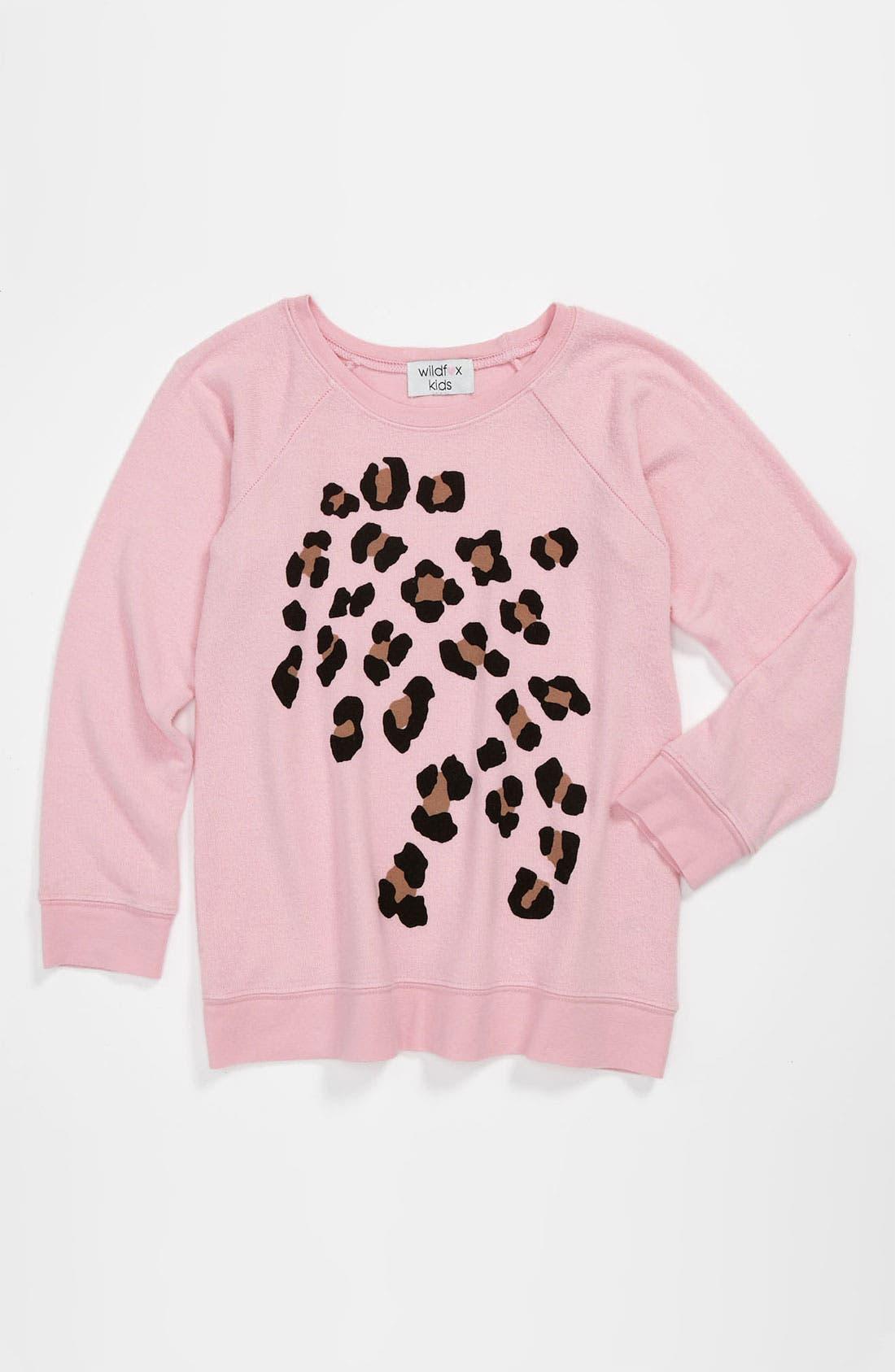 Main Image - Wildfox 'Leopard' Pullover (Big Girls)