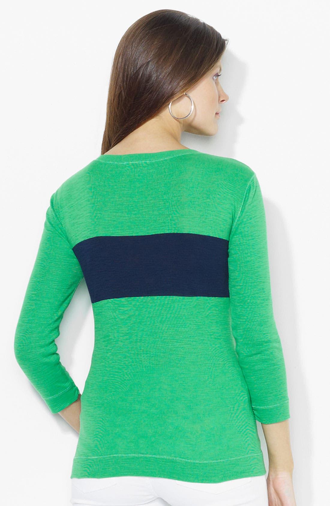 Alternate Image 2  - Lauren Ralph Lauren Button Shoulder Top (Petite) (Online Exclusive)