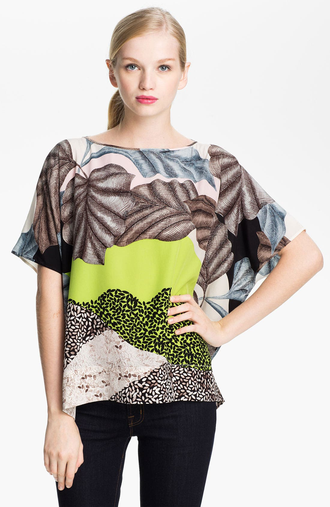 Alternate Image 1 Selected - Diane von Furstenberg 'New Hanky' Silk Top