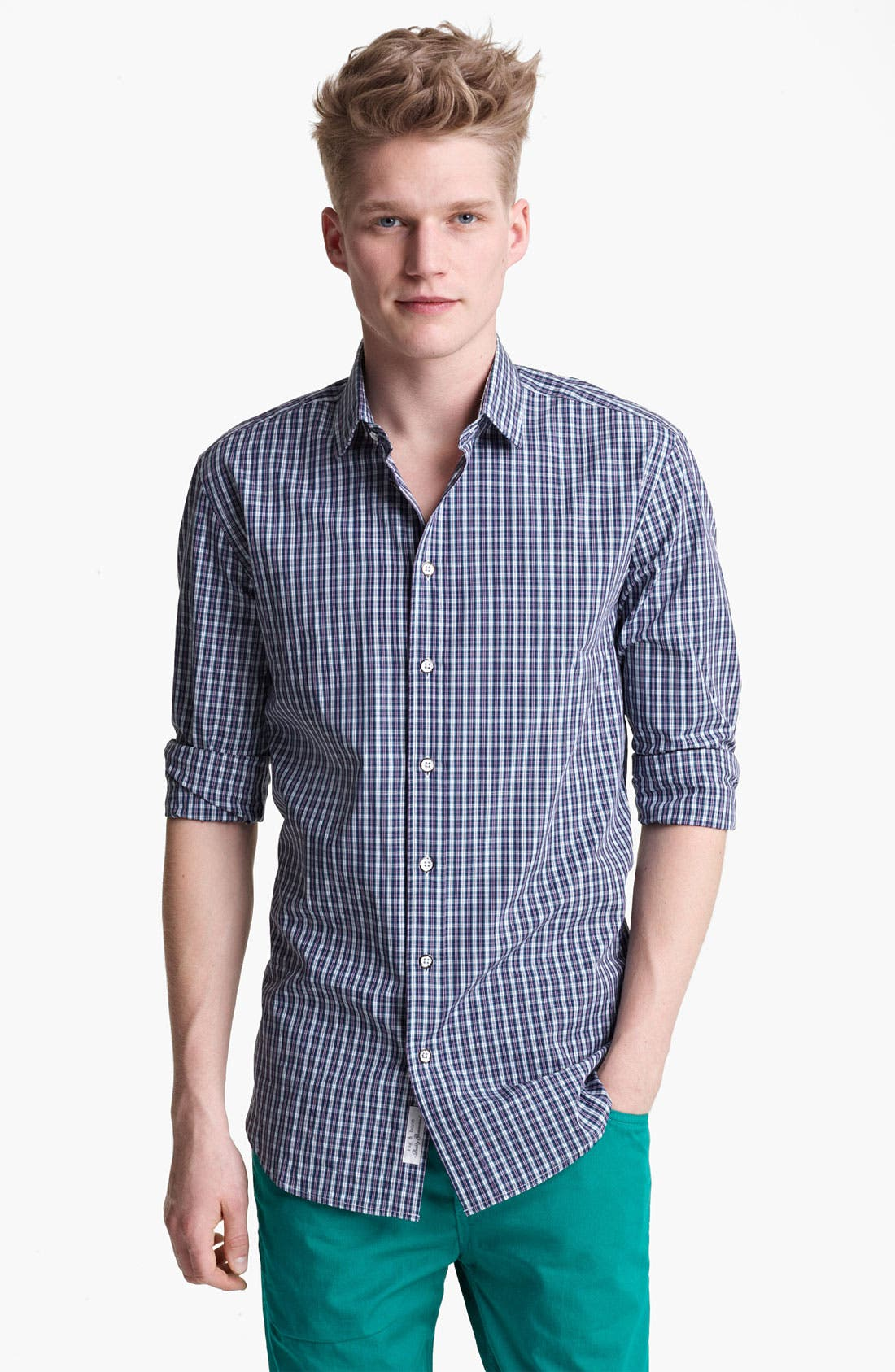 Alternate Image 1 Selected - rag & bone 'Charles' Plaid Woven Shirt