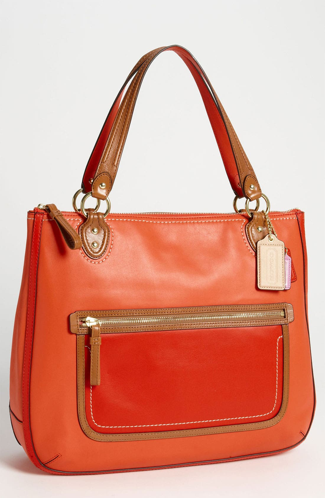 Alternate Image 1 Selected - COACH 'Poppy Colorblock' Leather Tote