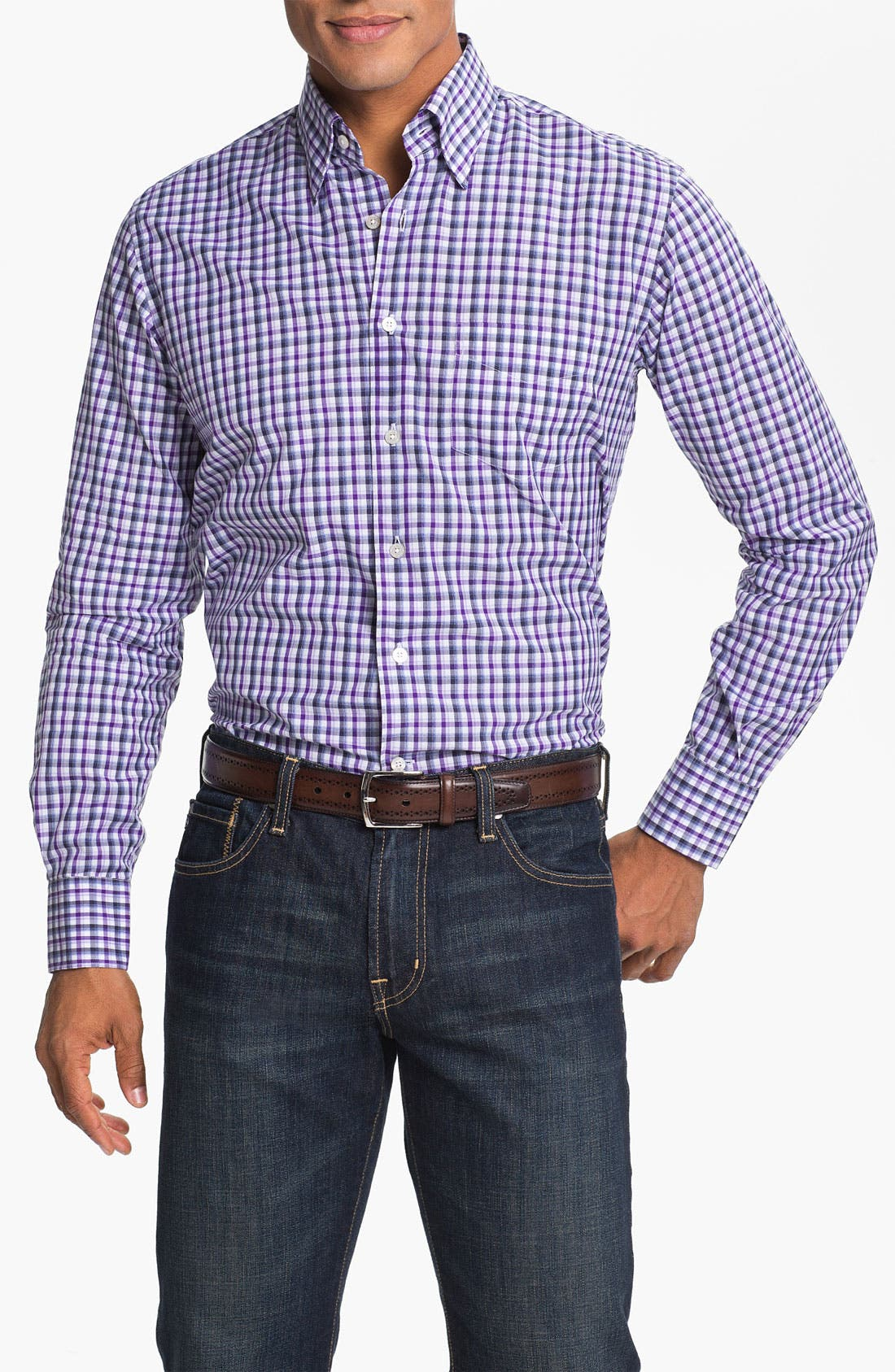 Alternate Image 1 Selected - Canali Regular Fit Sport Shirt