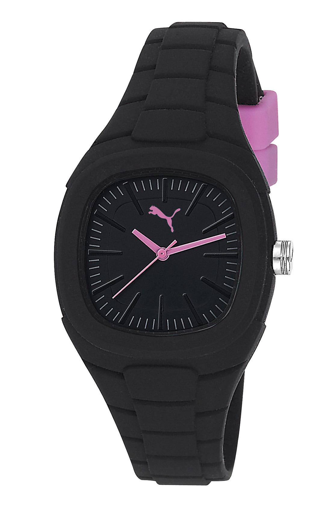 Alternate Image 1 Selected - PUMA 'Bubblegum - Small' Silicone Watch, 32mm x 36mm