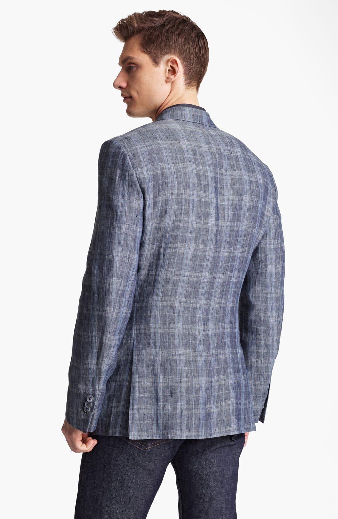 Alternate Image 2  - Z Zegna Trim Fit Linen Sportcoat