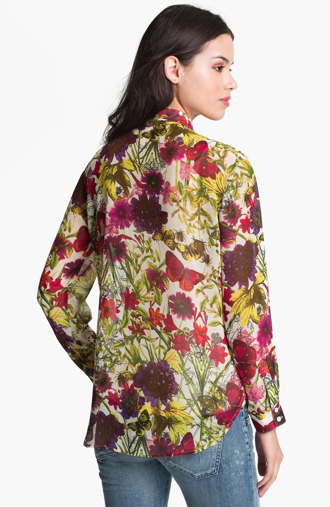 Alternate Image 2  - Bellatrix Botanical Print Chiffon Shirt