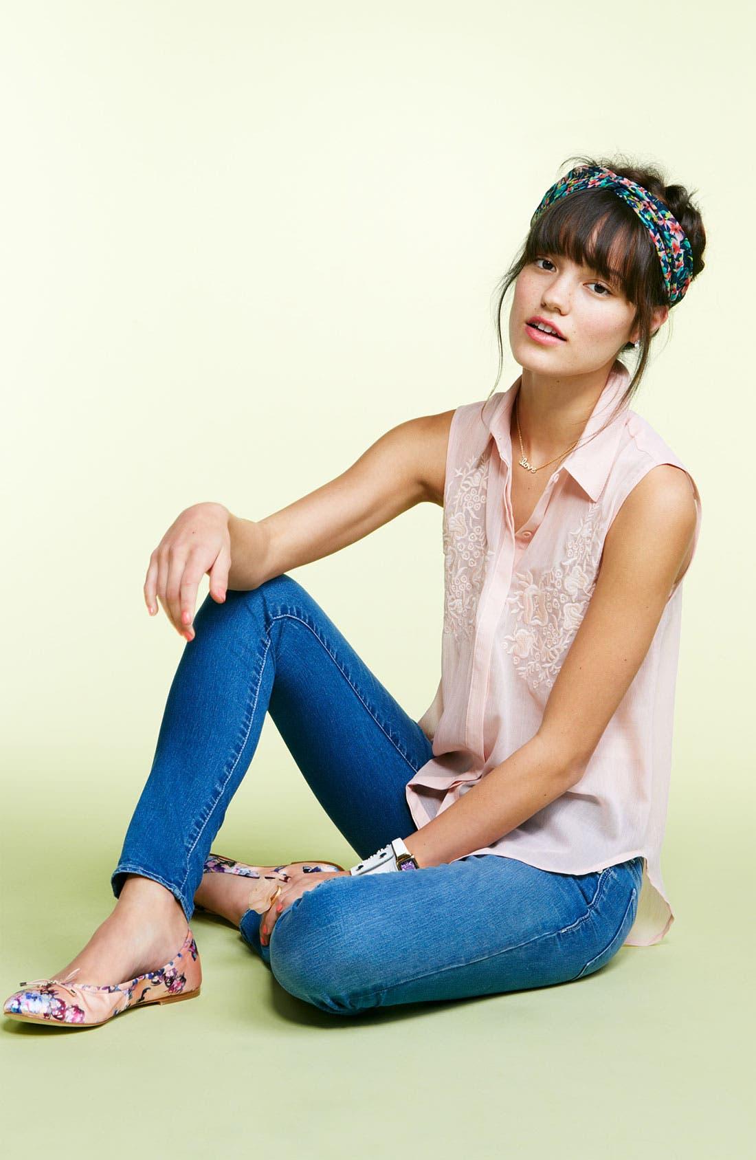 Alternate Image 3  - Articles of Society 'Mya' Skinny Jeans (Juniors)