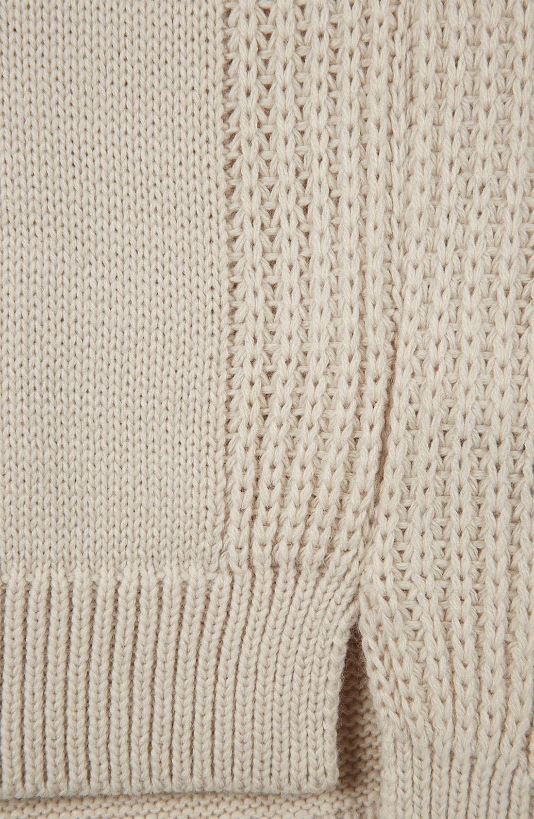 Alternate Image 3  - Topshop Ribbed Sleeve Sweater