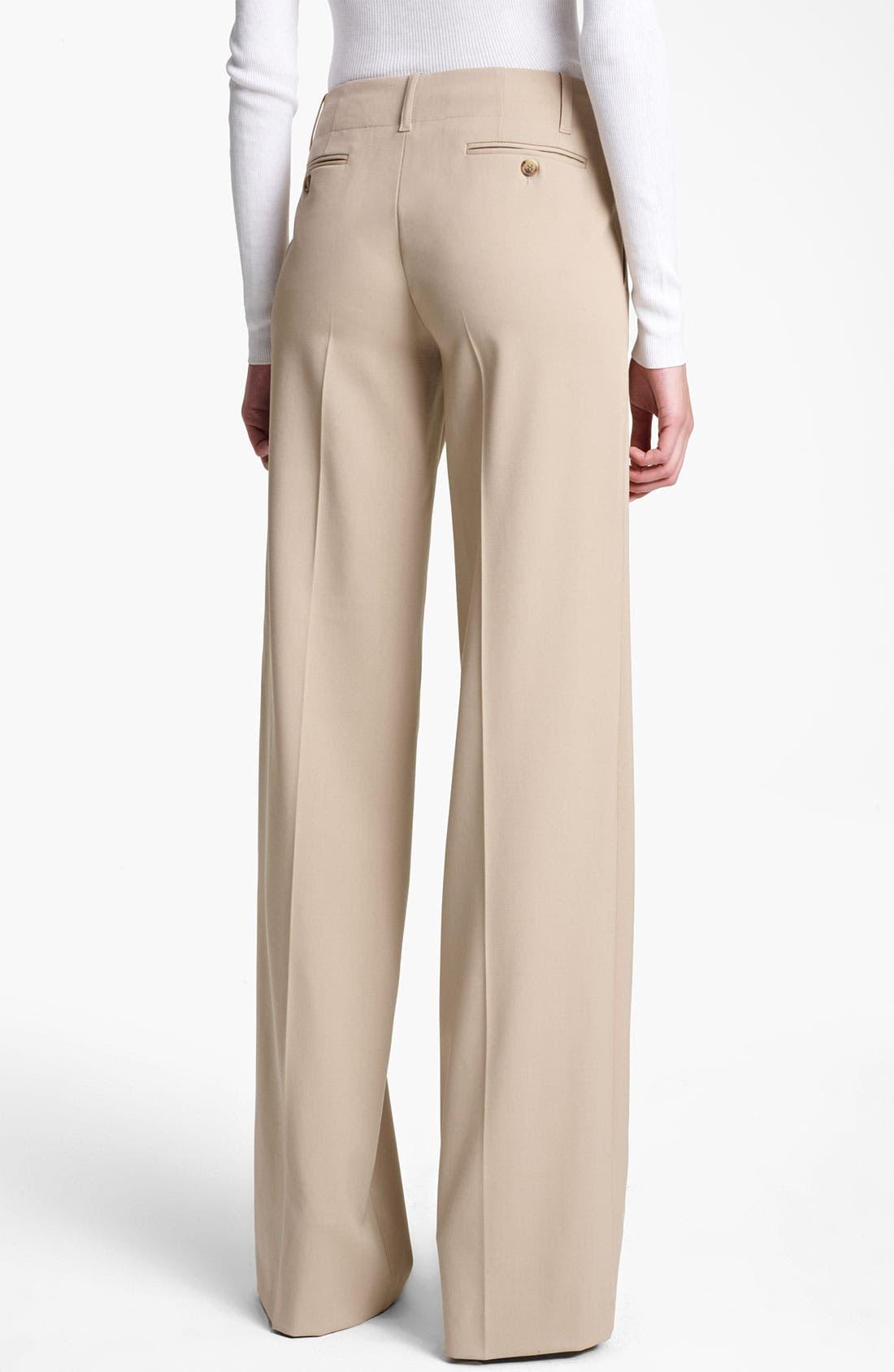 Alternate Image 2  - Michael Kors Wide Leg Stretch Gabardine Trousers