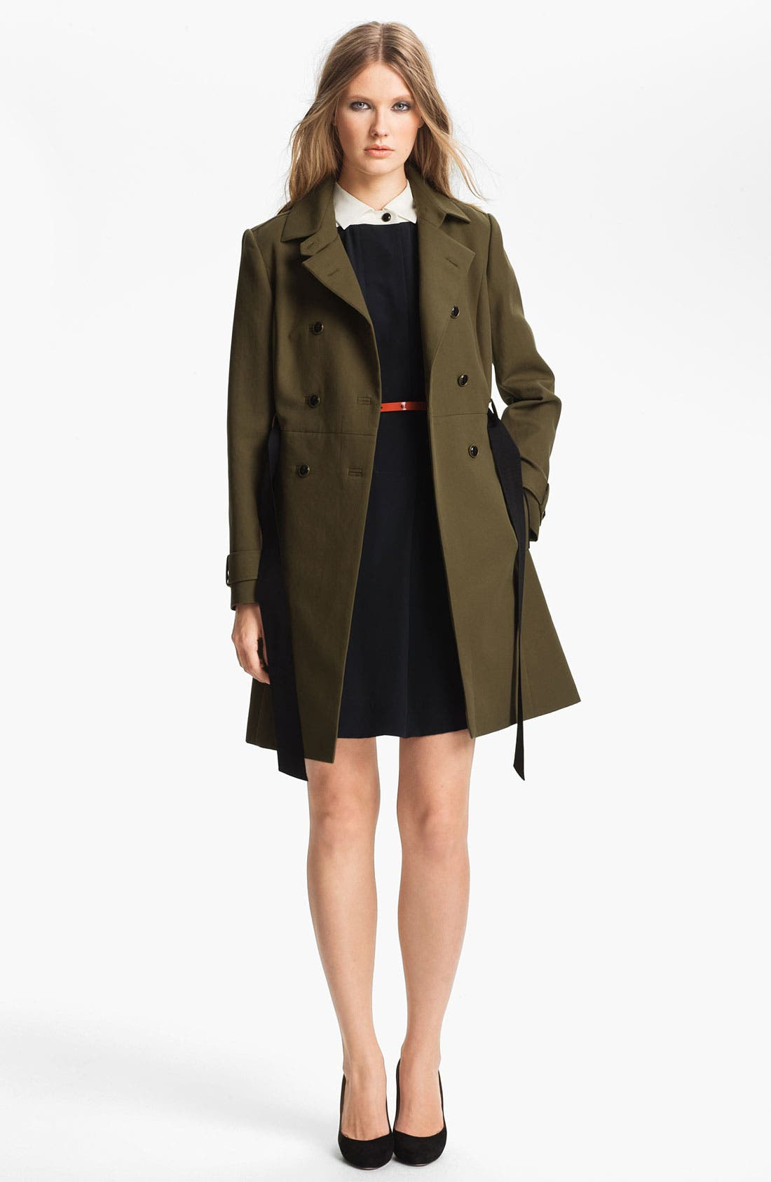 Alternate Image 3  - Miss Wu Belted Crêpe de Chine Shirtdress (Nordstrom Exclusive)